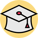 education, graduation, university, college, mortarboard Icon