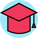 mortarboard, education, graduation, university, college Tomato icon