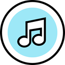 Music And Multimedia, music player, musical note, Quaver PaleTurquoise icon
