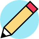 Edit, pencil, education, writing PaleTurquoise icon