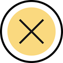 button, cancel, erase, Shapes And Symbols Khaki icon