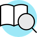 Library, education, reading, open book PaleTurquoise icon