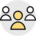 group, user, networking Lavender icon