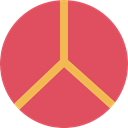 love, hippie, Peace, loving, Pacifism, Shapes And Symbols IndianRed icon