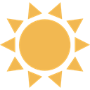 sun, weather, nature, Sunny, warm, summer, meteorology, Summertime SandyBrown icon