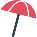 Holidays, summer, vacations, Sun Umbrella, Beach IndianRed icon
