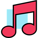 music, interface, music player, song, musical note, Quaver, Music And Multimedia Icon