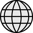 Earth Grid, Wireless Internet, Globe Grid, Maps And Location, internet, world, Multimedia, interface, worldwide, signs, Earth Globe Lavender icon