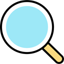 search, magnifying glass, zoom, detective, Loupe, Tools And Utensils, Seo And Web PaleTurquoise icon