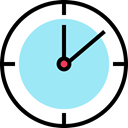 watch, tool, Tools And Utensils, Time And Date, Clock, time PaleTurquoise icon