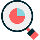 search, magnifying glass, Stats, Analytics, Loupe, Seo And Web WhiteSmoke icon