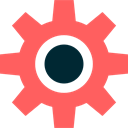 cogwheel, Tools And Utensils, Gear, settings, miscellaneous, configuration Tomato icon