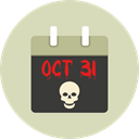 halloween, horror, Terror, October, spooky, scary, fear, Frightening, Calendar LightGray icon