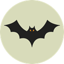 Terror, spooky, scary, fear, bat, halloween, horror, Frightening LightGray icon