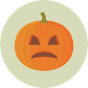 pumpkin, horror, Terror, spooky, scary, fear, Frightening, halloween LightGray icon