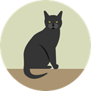 halloween, horror, Terror, Animals, spooky, Black cat, scary, fear, Frightening LightGray icon