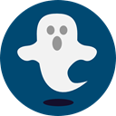 Ghost, halloween, horror, Terror, spooky, scary, fear, Frightening MidnightBlue icon