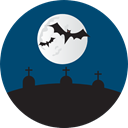 halloween, horror, Terror, Cemetery, spooky, Bats, scary, fear, Frightening Icon