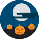 Frightening, halloween, horror, Terror, spooky, scary, fear, pumpkins MidnightBlue icon