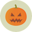 halloween, pumpkin, horror, Terror, spooky, scary, fear, Frightening LightGray icon
