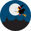 halloween, horror, Terror, witch, Frightening, Cemetery, spooky, scary, fear MidnightBlue icon