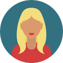 user, woman, profile, Avatar, Social SeaGreen icon