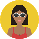 profile, Avatar, Social, user, woman Goldenrod icon