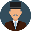 Man, user, profile, Avatar, Social, Gentleman Icon