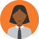 user, profile, Avatar, Social, Businesswoman Coral icon