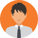 Businessman, user, profile, Avatar, Social, Man Coral icon