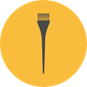 Beauty, Hair Salon, Grooming, Hair Dye Brush SandyBrown icon