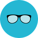 eyeglasses, fashion, reading glasses, Ophthalmology, Glasses, miscellaneous, optical, vision LightSeaGreen icon