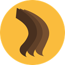 Beauty, Hair Salon, Accesory, Dye, Grooming, Hair Color Sample SandyBrown icon