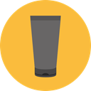 Sun Cream, Beauty, Beach, Cream, Holidays, Sun Protection SandyBrown icon