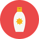 Sun Protection, Sun Cream, Healthcare And Medical, Beach, Holidays Tomato icon