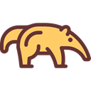 Animals, Wild Life, Animal Kingdom, Anteater Black icon