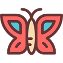 insect, butterfly, Animals, Moths SaddleBrown icon