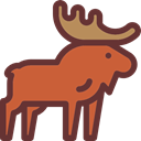 Animal, zoo, Animals, elk, Wild Life, Animal Kingdom SaddleBrown icon