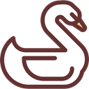 bird, zoo, Animals, wildlife, swan, Animal Kingdom SaddleBrown icon