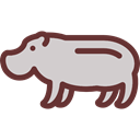 zoo, Animals, mammal, hippopotamus, Wild Life, Animal Kingdom LightGray icon