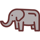 elephant, zoo, Animals, mammal, Wild Life, Animal Kingdom DarkGray icon