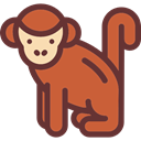 Ape, monkey, zoo, Animals, mammal, Wild Life, Animal Kingdom Chocolate icon
