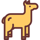 Alpaca, Animals, Wild Life, Animal Kingdom SandyBrown icon
