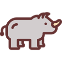 zoo, Animals, mammal, rhinoceros, wildlife, Animal Kingdom Black icon