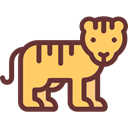 Animal, Tiger, zoo, Animals, Wild Life, Animal Kingdom SandyBrown icon