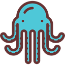 Octopus, Aquatic, Sea Life, Animals, Aquarium SaddleBrown icon