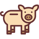 pig, zoo, Animals, Farm, wildlife, Animal Kingdom Wheat icon