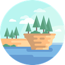 nature, landscape, Island, scenery Icon