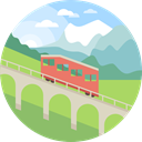 scenery, Funicular, Tramway, transportation, nature, landscape DarkKhaki icon