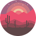 Desert, scenery, nature, landscape IndianRed icon